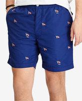 """Polo Ralph Lauren Men's 6"""" Embroidered Swim Trunks"""