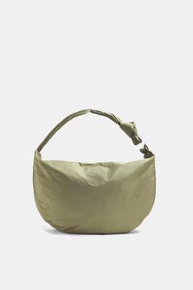 Topshop CONSIDERED Khaki Oversized Nylon Sling Hobo Bag