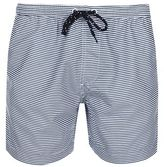 Burton Mens Navy White Stripe Swim Shorts
