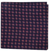 Ted Baker Men's Neat Plaid Double Sided Silk Pocket Square