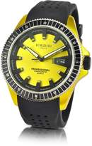 Forzieri Yellow Aluminum Case Watch w/Rubber Strap