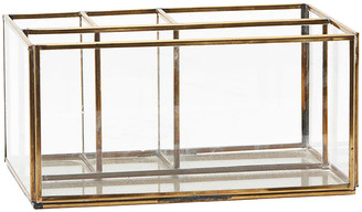 Monograph - Square Brass Desk Organiser