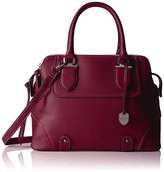 London Fog Camila Triple Tote-Cranberry
