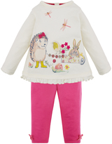 Monsoon Baby Posey Hedgehog Top and Legging Set