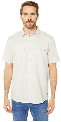 Royal Robbins Seaview Hemp Short Sleeve Shirt (Soapstone) Men's Clothing