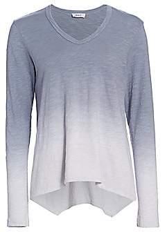 Wilt Women's Ombré Long-Sleeve Handkerchief Top