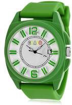 Crayo Women's 'Sunset' Quartz Metal and Silicone Watch, Color:Green (Model: CRACR3306)