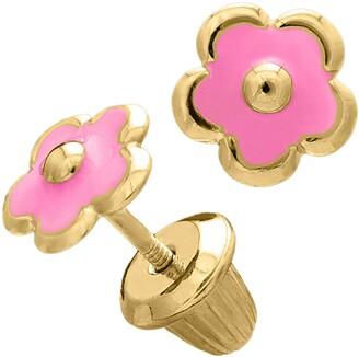 Mignonette 14k Gold Flower Earrings