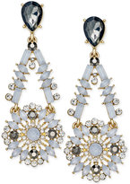 INC International Concepts Snow Queen Gold-Tone Crystal Mosaic Drop Earrings, Only at Macy's
