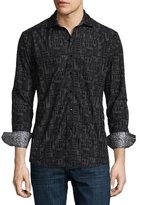 Robert Graham Limited Edition Cable-Print Sport Shirt, Slate