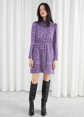 And other stories Mock Neck Mini Dress