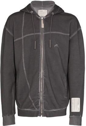A-Cold-Wall* Faded-Effect Logo Print Hoodie