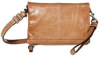 Frye Mel Stadium Bag (Camel) Cross Body Handbags