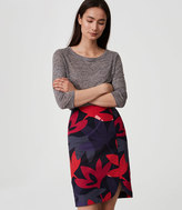 LOFT Fleur Curved Pencil Skirt