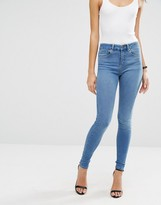 Asos 'SCULPT ME' High Rise Premium Jeans in Jecca Pretty Mid Blue