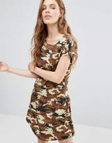 Noisy May Carlos Camo Print Tea Dress