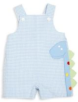 Florence Eiseman Baby's Gingham Checked Dinosaur Overalls