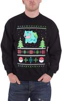 Pokemon Christmas Jumper Sweatshirt Bulbasaur Christmas new Official Mens