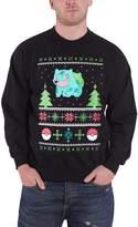 Pokemon Christmas Jumper Sweatshirt Bulbasaur Christmas new Official Mens