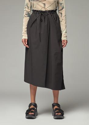 Y's by Yohji Yamamoto Women's Asymmetric Wrap Drawstring Skirt in Black Size 2