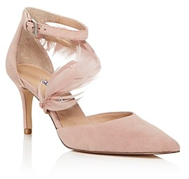 Charles David Women's Attract Feather-Embellished d'Orsay Pumps