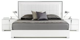 Orren Ellis Demaria Tufted Upholstered Platform Bed Color: White, Size: California King
