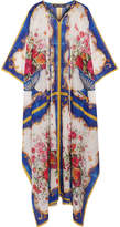 Dolce & Gabbana Printed Cotton And Silk-blend Kaftan - White