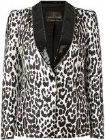 Roberto Cavalli leopard print blazer - women - Cotton/Polyamide/Polyester/Viscose - 42