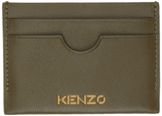 Kenzo Khaki Cut-Out Card Holder