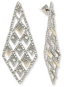 Alexis Bittar Crystal Lattice Drop Earrings