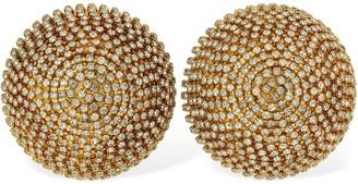 Marni Vertigo Crystal Clip-on Button Earrings
