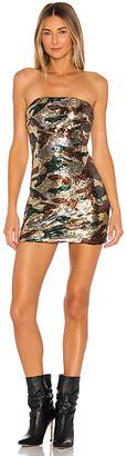superdown Quinn Camo Sequin Dress