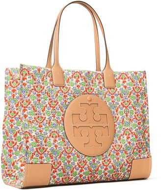 Tory Burch Ella Floral Quilted Tote Bag
