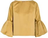 Bottega Veneta Frill Sleeve Top