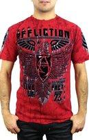 Affliction Men's Rhetoric Rust S/S Tee T-Shirt MD