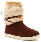 Toms Suede and Faux Fur Boot (Little Kid & Big Kid)