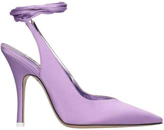 ATTICO The Slingback Sandals In Viola Tech/synthetic