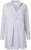 Enfold front pleat striped shirt