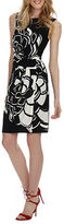 Donna Morgan Oversized Floral Print Wrap-Front Dress