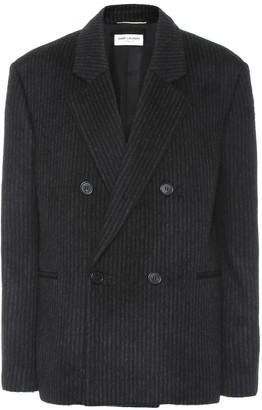 Saint Laurent Striped wool and cashmere blazer