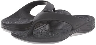 Aetrex Lynco Flip (Black) Women's Sandals