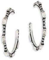 Dannijo Lyra Crystal Hoop Earrings/1.75