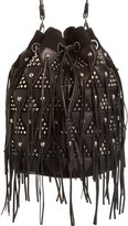 Jerome Dreyfuss 'Large Popeye' Leather Patchwork Bucket Bag