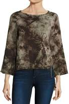 Feel The Piece Women's Tyler Jacobs x Cardiff Tie-Dye Lace-Up Sweatshirt