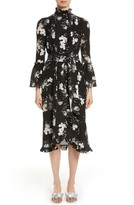 Erdem Women's Floral Silk Ruffle Dress