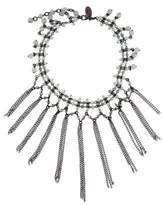 Erickson Beamon Aventurine Beaded Fringe Choker Necklace