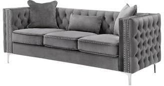 Rosdorf Park Marvine Chesterfield Sofa Fabric: Gray
