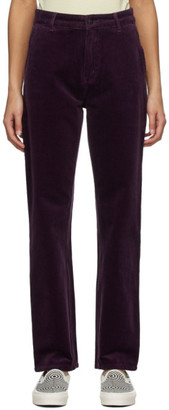 Carhartt Work In Progress Purple Pierce Trousers