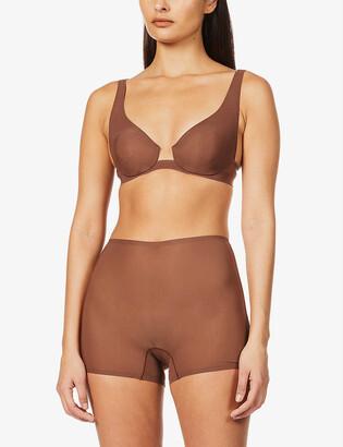 SKIMS Naked stretch-woven plunge bra