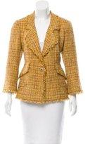 Chanel Fringe-Trimmed Wool Blazer